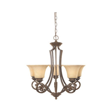 Designers Fountain Forged Sienna Five Light Up Lighting Chandelier from the Mendocino Collection