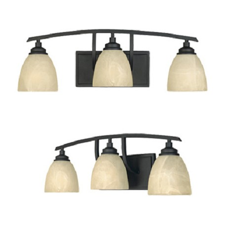 Designers Fountain Burnished Bronze 3 Light Bathroom / Vanity Fixture from the Tackwood Collection
