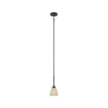 Designers Fountain Burnished Bronze 1 Light Mini Pendant Fixture from the Tackwood Collection