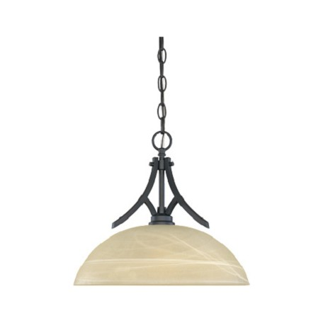 Designers Fountain Burnished Bronze 1 Light Hanging Down Light Bowl Pendant Tackwood Collection