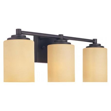 Designers fountain oil rubbed bronze marbella 3 light for Bathroom vanity light fixtures oil rubbed bronze