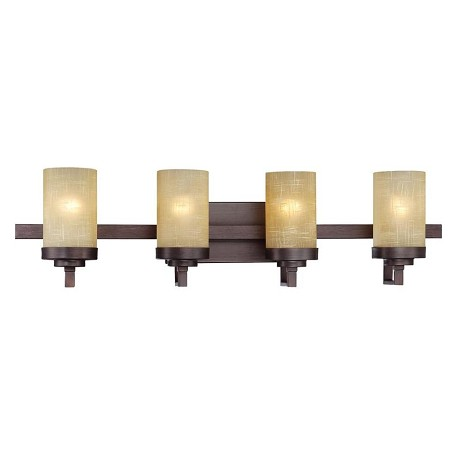 Designers Fountain Tuscana 4 Light Bathroom Fixture from the Castello Collection