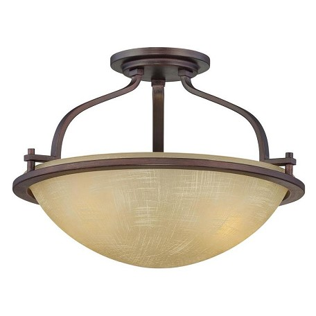 Designers Fountain Tuscana 2 Light Semi-Flush Mount Ceiling Fixture from the Castello Collection