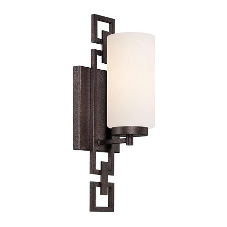 Designers Fountain Flemish Bronze 1 Light Bathroom Fixture from the Del Ray Collection