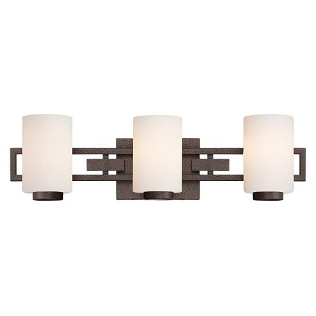 Designers Fountain Flemish Bronze 3 Light Bathroom Fixture from the Del Ray Collection