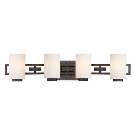 Designers Fountain Flemish Bronze 4 Light Bathroom Fixture from the Del Ray Collection