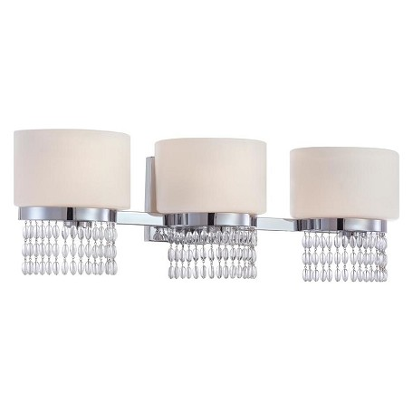Designers Fountain Polished Chrome 3 Light Bathroom Fixture from the Candence Collection