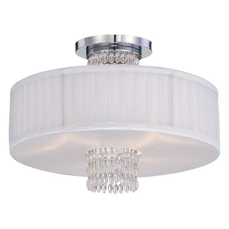 Designers Fountain Polished Chrome 3 Light Semi-Flush Mount Ceiling Fixture Candence Collection