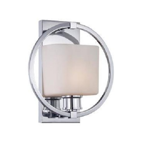 Designers Fountain Polished Chrome 1 Light Bathroom Fixture From The Mirage Collection