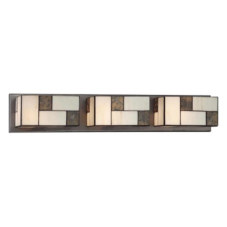 Designers Fountain Charcoal  3 Light Bathroom Fixture from the Bradley Collection