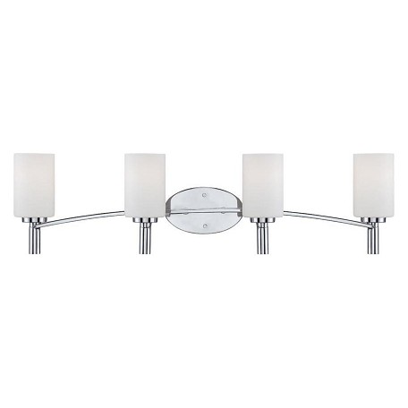 Designers Fountain Chrome Cordova 4 Light Bath Bar Bathroom Fixture Chrome 84504 Ch From Cordova