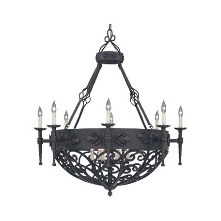 Designers Fountain Natural Iron 14 Light Chandelier from the Alhambra Collection