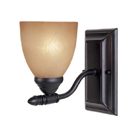 Designers Fountain Oil Rubbed Bronze Single Light Up Lighting Wall Sconce Apollo Collection