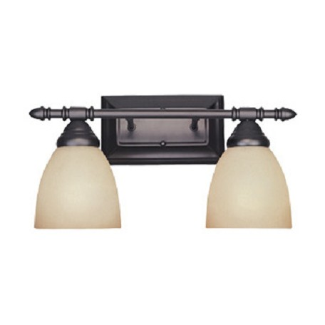 "Designers Fountain Oil Rubbed Bronze Two Light Down Lighting 15.75"" Wide Bathroom Fixture"