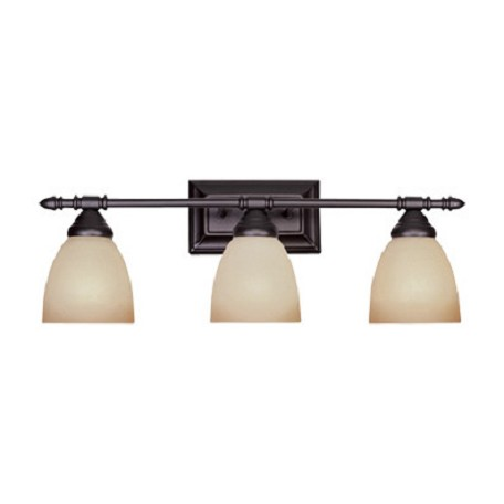 "Designers Fountain Oil Rubbed Bronze Three Light Down Lighting 23.75"" Wide Bathroom Fixture"