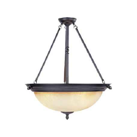 Designers Fountain Oil Rubbed Bronze Three Light Down Lighting Bowl Pendant Apollo Collection