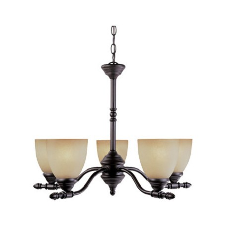 Designers Fountain Oil Rubbed Bronze Five Light Up Lighting Chandelier from the Apollo Collection