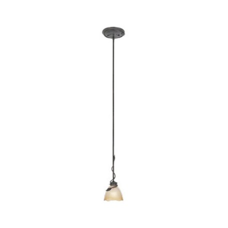Designers Fountain Old Bronze Single Light Down Lighting Mini Pendant Timberline Collection