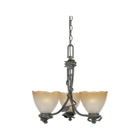 Designers Fountain Old Bronze Three Light Up Lighting Mini Chandelier Timberline Collection