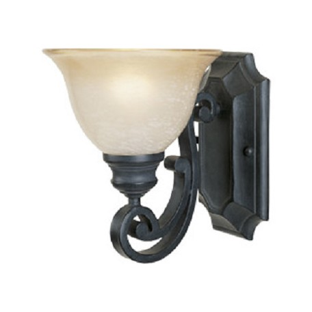 Designers Fountain Natural Iron Single Light Up Lighting Wall Sconce from the Barcelona Collection