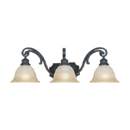 "Designers Fountain Natural Iron Barcelona 26"" Wide Tuscan Three Light Vanity Light"
