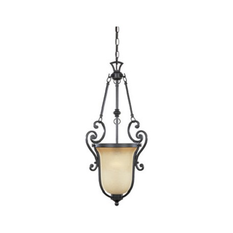 Designers Fountain Natural Iron Single Light Foyer Pendant from the Barcelona Collection