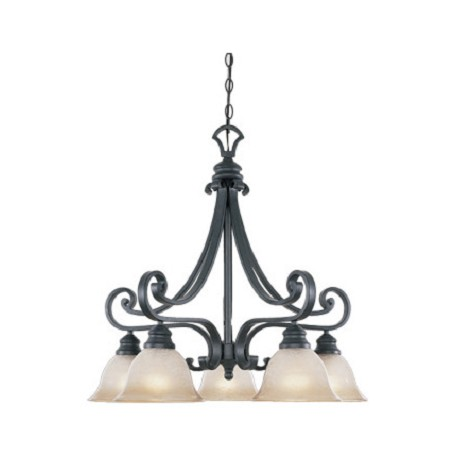 Designers Fountain Natural Iron Barcelona 5 Light Single Tier Chandelier