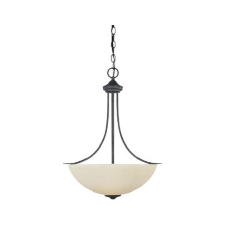 Designers Fountain Oil Rubbed Bronze Three Light Bowl Pendant From The Montego Collection