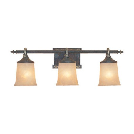 "Designers Fountain Weathered Saddle Austin Three Light Down Lighting 27.5"" Wide Bathroom Fixture"