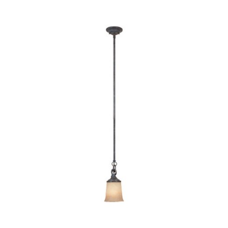 Designers Fountain Weathered Saddle Single Light Down Lighting Mini Pendant Austin Collection