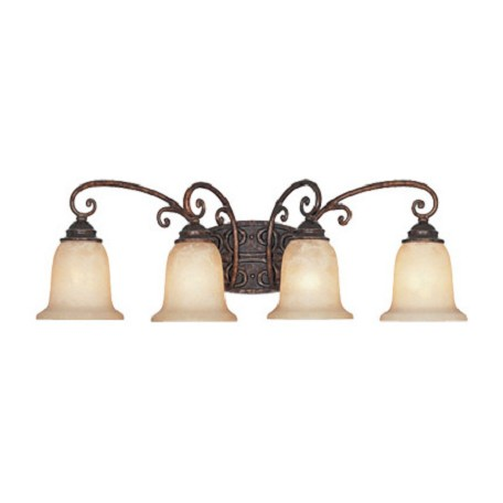 Designers Fountain Burnt Umber Four Light Down Lighting Bathroom Fixture Amherst Collection