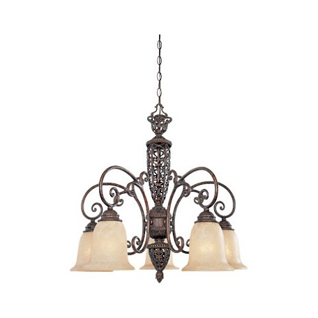 Designers Fountain Burnt Umber Five Light Down Lighting Chandelier from the Amherst Collection