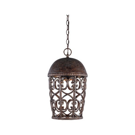 Designers Fountain Burnt Umber Single Light Down Lighting Outdoor Pendant