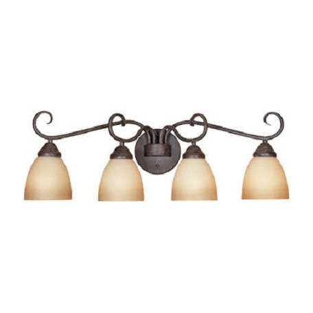 Designers Fountain Satin Platinum Four Light Bathroom Fixture
