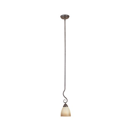 Designers Fountain Satin Platinum Single Light Mini Pendant From The Stratton Collection