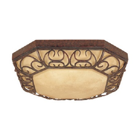 Designers Fountain Burnt Umber Amherst Tuscan 2 Light Down Lighting Flush Mount Energy Star Fixture