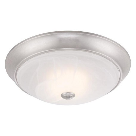 Designers Fountain Cirrus Led Flush Mount In Satin Platinum Finish