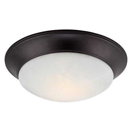 Designers Fountain Oil Rubbed Bronze Halo 1 Light LED Flush Mount Ceiling Fixtures
