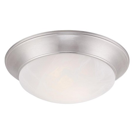 Designers Fountain Halo 1 Light Led Flush Mount With Satin Platinum Finish