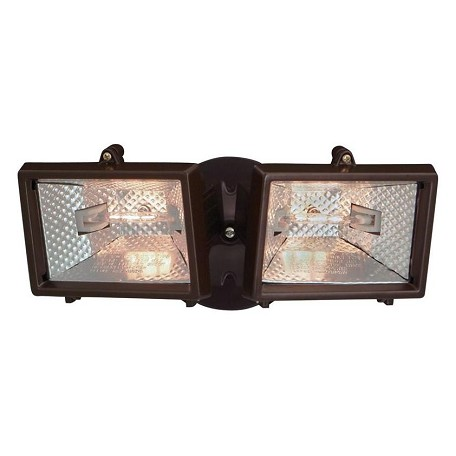 Designers Fountain 2 Light Exterior Wall Mount Halogen Security Light With Bronze Finish