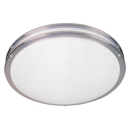 Designers Fountain Satin Nickel Two Light Round Energy Star Flush Mount Fixture - Bulb Included