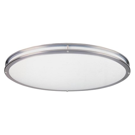 Designers Fountain Satin Nickel Two Light 14.25in. Round Energy Star Flush Mount Ceiling Fixture