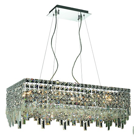 Elegant Lighting Royal Cut Clear Crystal Maxim 16-Light Crystal Pendant