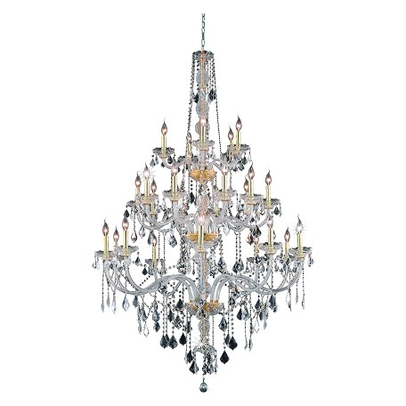 Elegant Lighting Royal Cut Clear Crystal Verona 25-Light