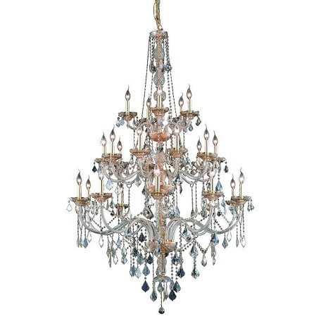 Elegant Lighting Royal Cut Champagne Golden Shadow Crystal Verona 25-Light