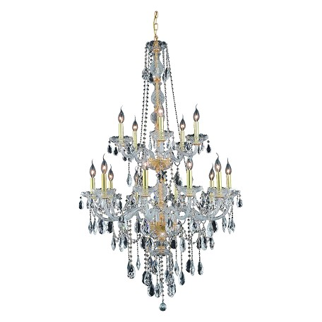 Elegant Lighting Royal Cut Clear Crystal Verona 15-Light