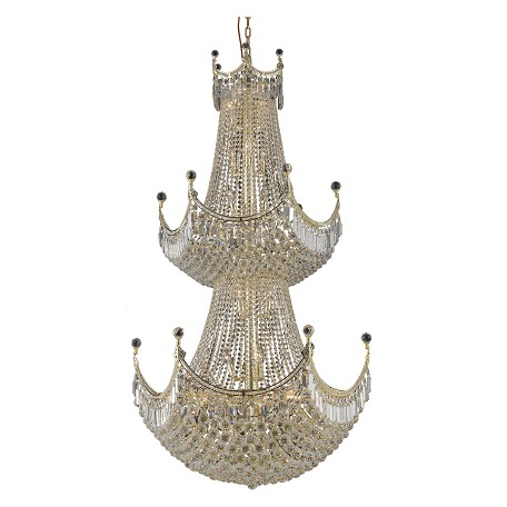 Elegant Lighting Royal Cut Clear Crystal Corona 36-Light