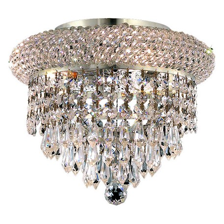 Elegant Lighting Royal Cut Clear Crystal Primo 3-Light