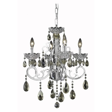 Elegant lighting dining room chandelier chrome chrome for Elegant chandeliers dining room