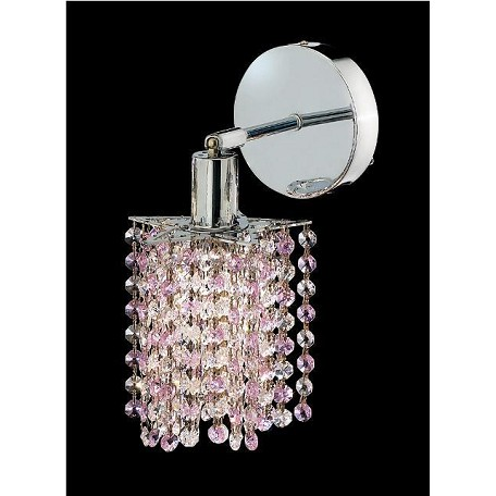 Elegant Bathroom Sconce Chrome Chrome 1381W-R-P-RO/RC From Mini Collection
